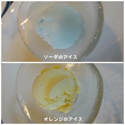 ソーダ,オレンジのアイス