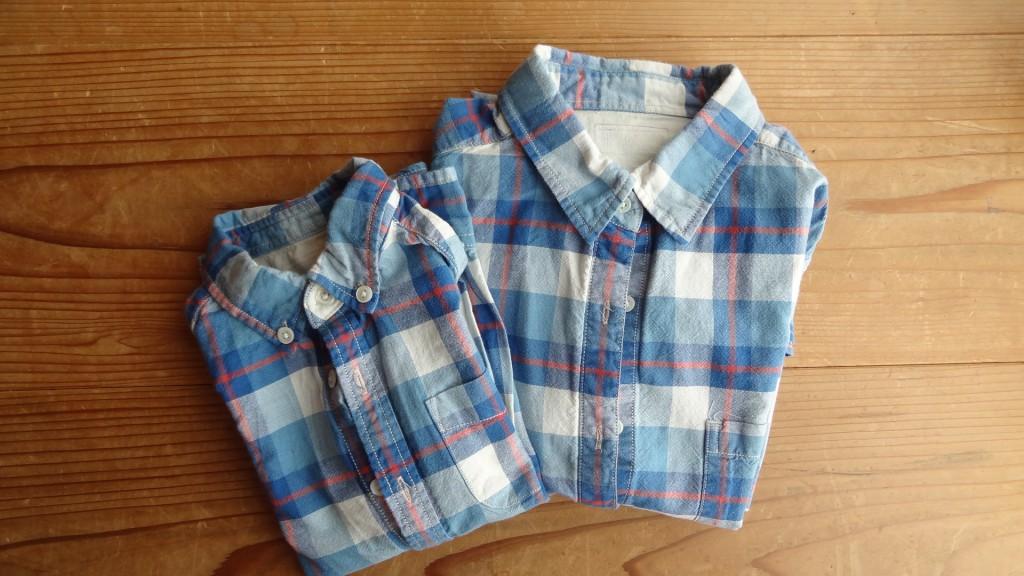 グリーンレーベルリラクシングのチェックシャツ(私と娘の親子コーデ)