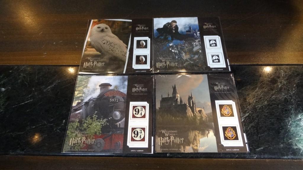 ふくろうポストカード&オリジナル切手セット4種類