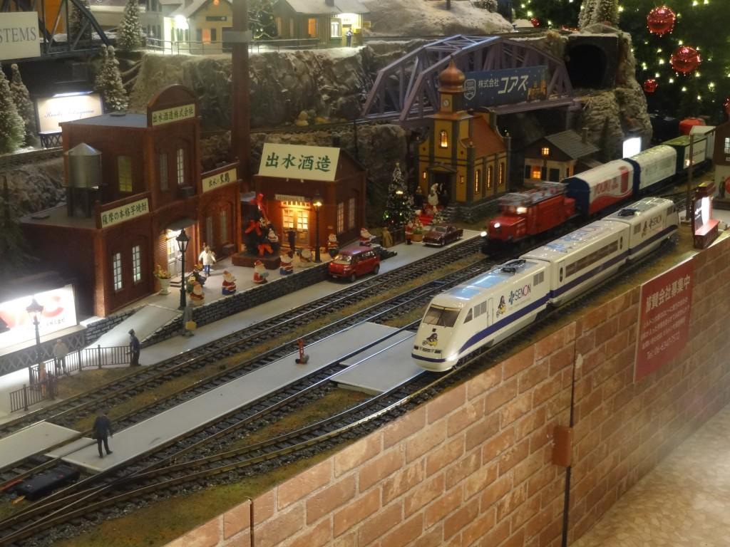 大規模なジオラマと鉄道模型(4)