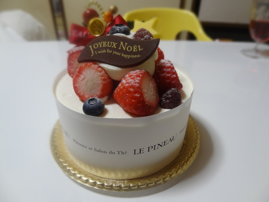 2013年の「ルピノー」のクリスマスケーキ