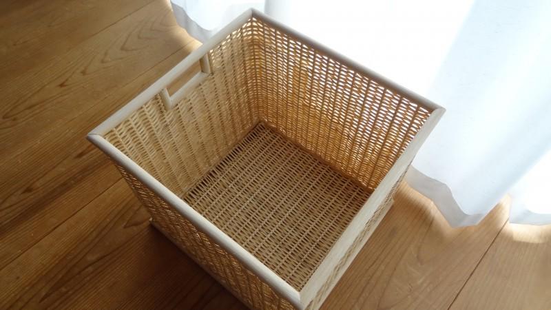 「ブリ材・角型バスケット(特大サイズ)」(2)
