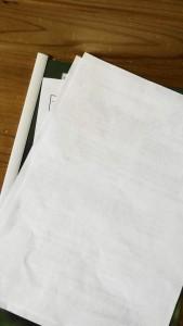人間ドックや検診の用紙