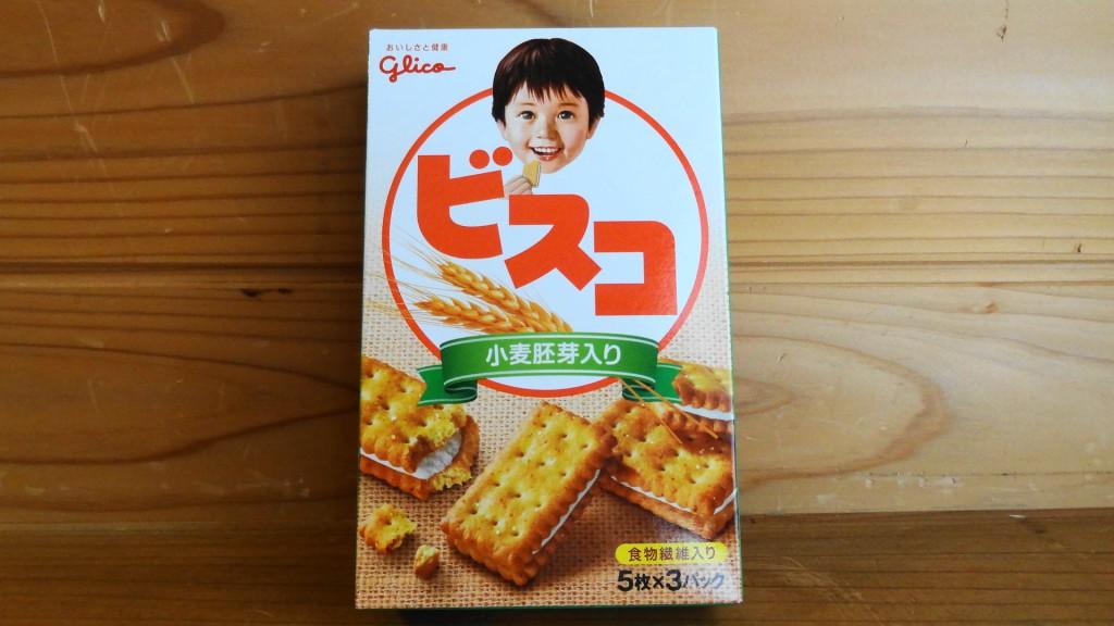 江崎グリコの「小麦胚芽入りのクラッカータイプのビスコ」