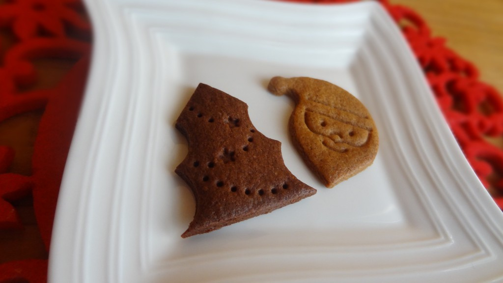 プレーン&ココアクッキーのアップ