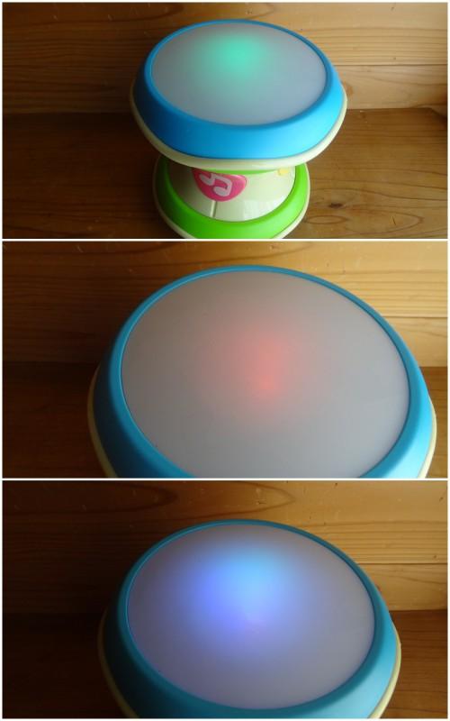 コンビの「光るにぎやかドラム」(8)