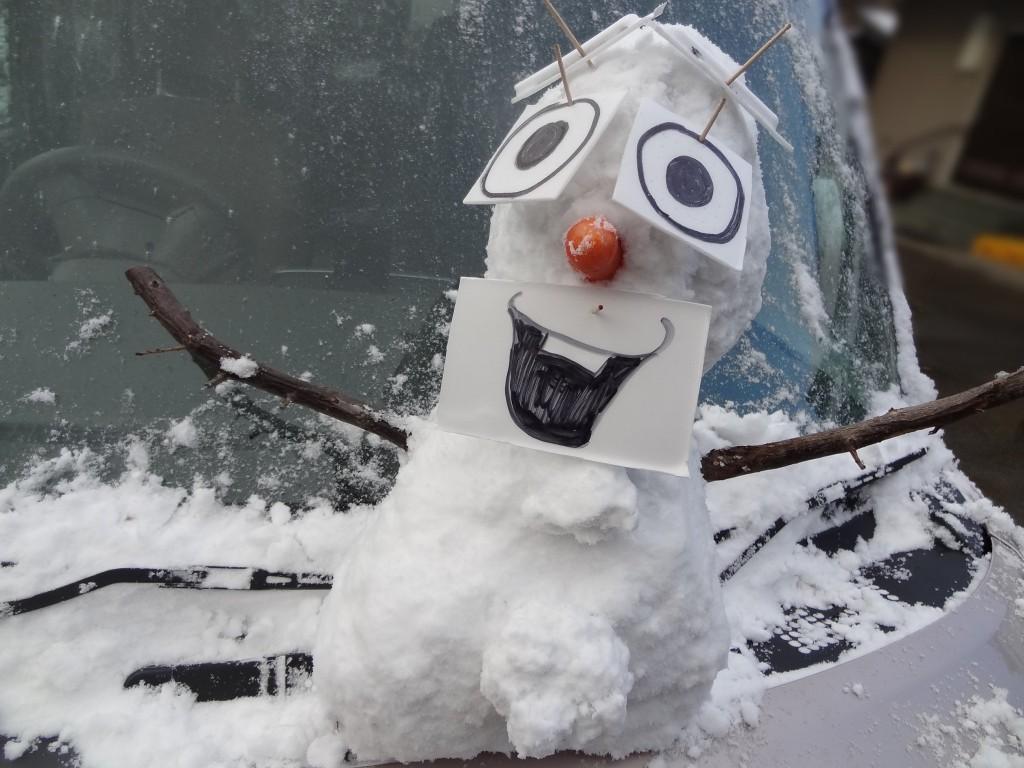 雪だるまオラフの完成!