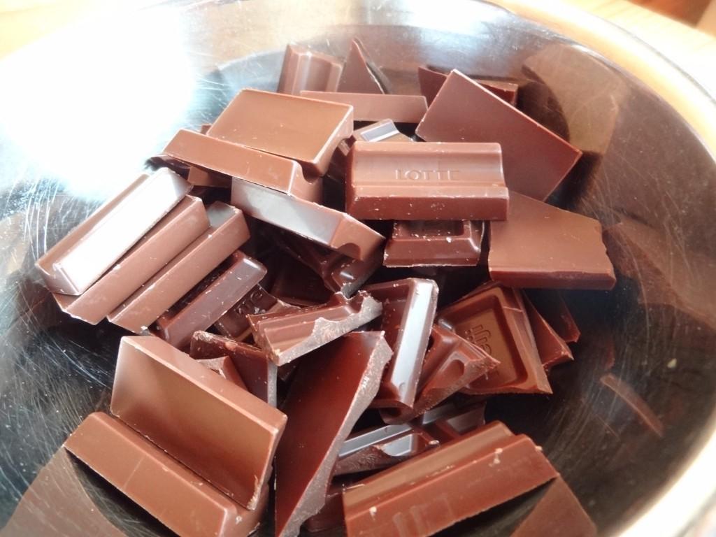 型に流すチョコレート200g