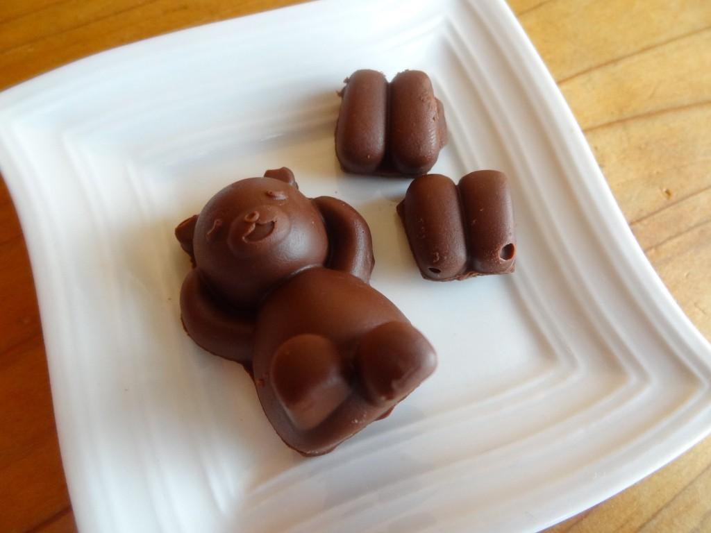 余分なチョコを取り除いた状態