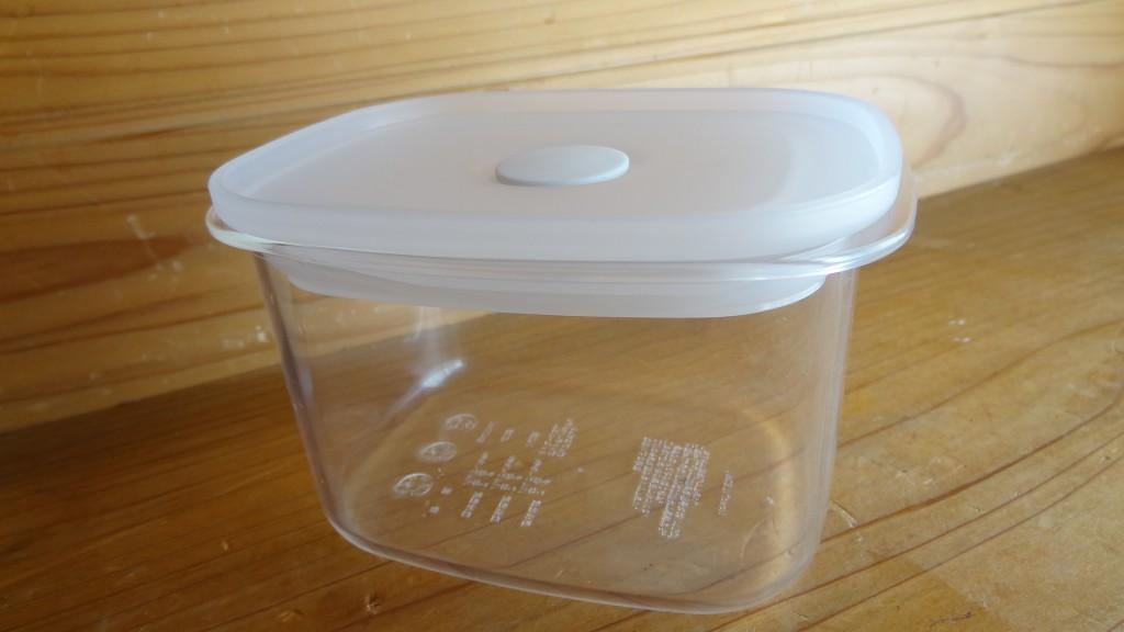 無印良品の「フタをしたまま電子レンジで使える バルブ付き密閉保存容器 深型・小」(6)