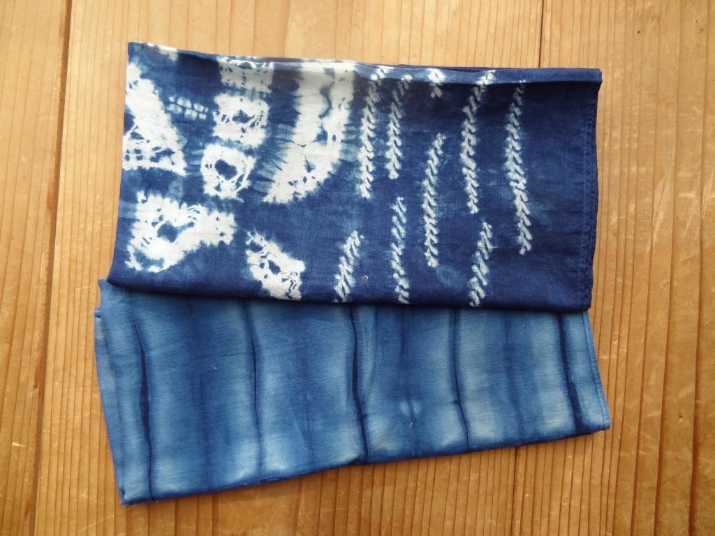 自宅にあった藍染めのハンカチ(2)