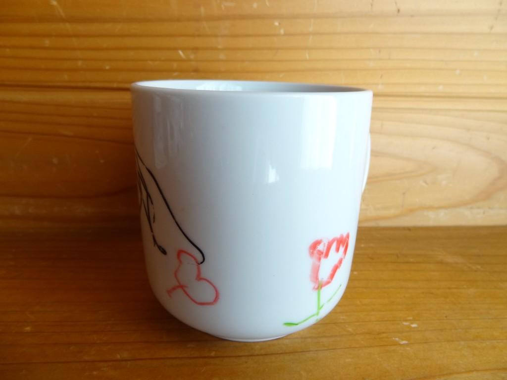 焼き付けた後のマグカップ(2)
