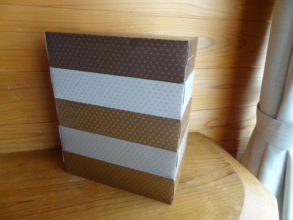 「アスクルオリジナルティッシュMOCHA 5colors 1パック(5箱入)」(2)