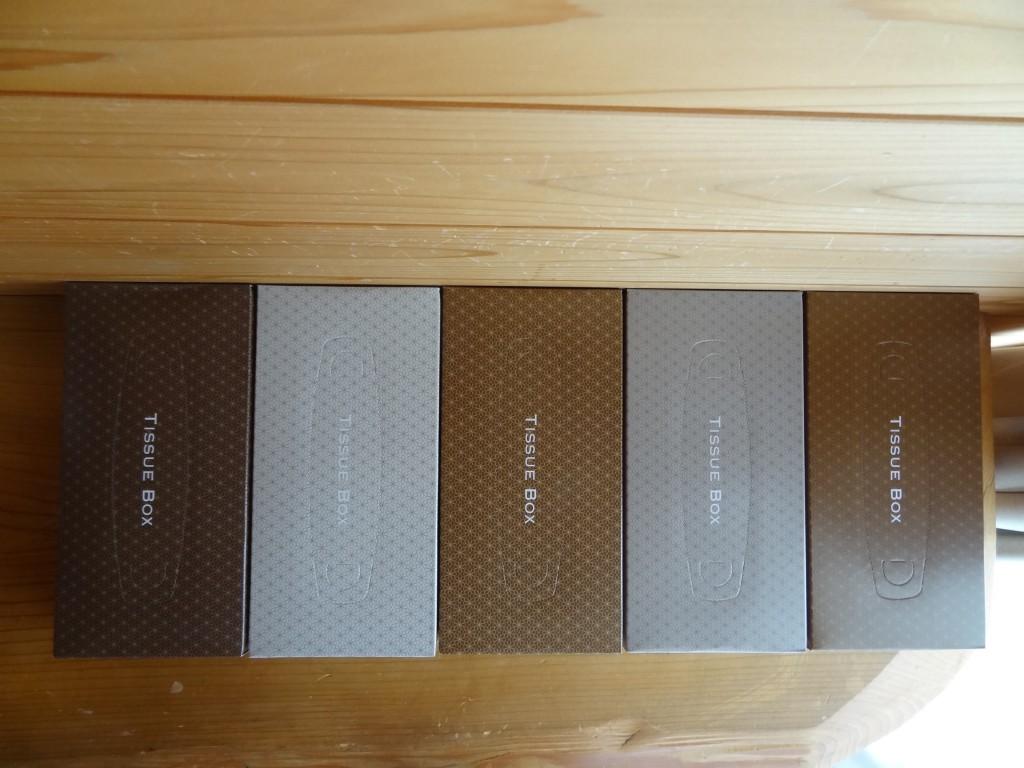「アスクルオリジナルティッシュMOCHA 5colors 1パック(5箱入)」(3)