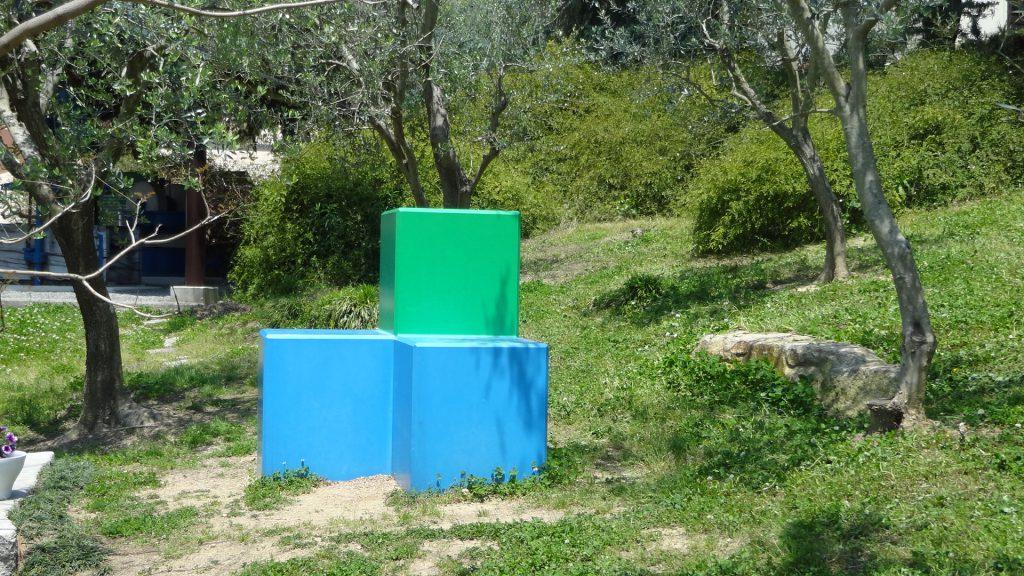 小豆島オリーブ園のイサム・ノグチの遊具彫刻(5)