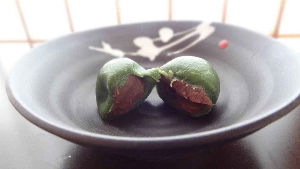茜庵のかしわ餅(よもぎ)(2)