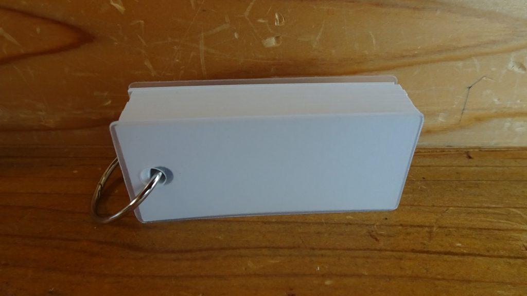無印良品のポリプロピレンカバー単語カード5個セット(2)