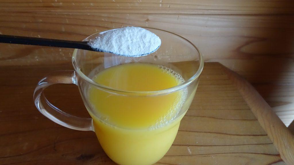 みらいのこうそ+100%オレンジジュース(2)