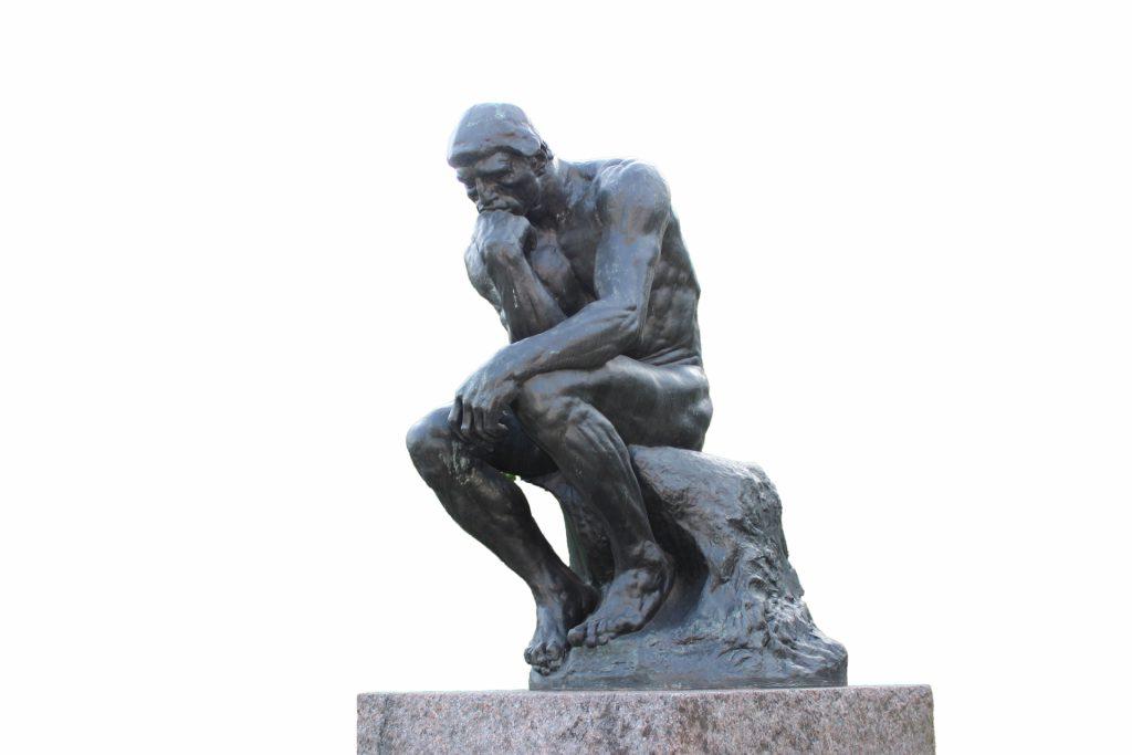 ロダンの「考える人」が排便に適した姿勢