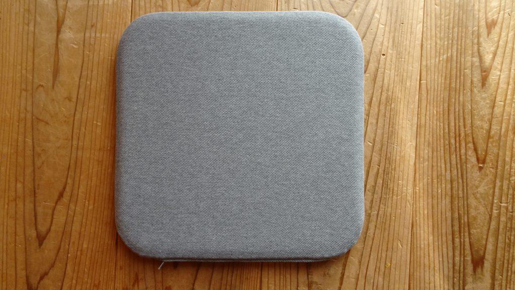 無印良品の「ウレタンフォーム低反発シートクッション角型杢グレー」(1)