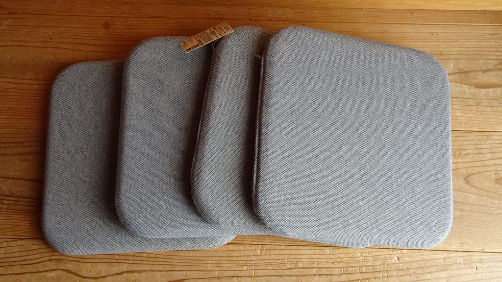 無印良品の「ウレタンフォーム低反発シートクッション角型杢グレー」(3)