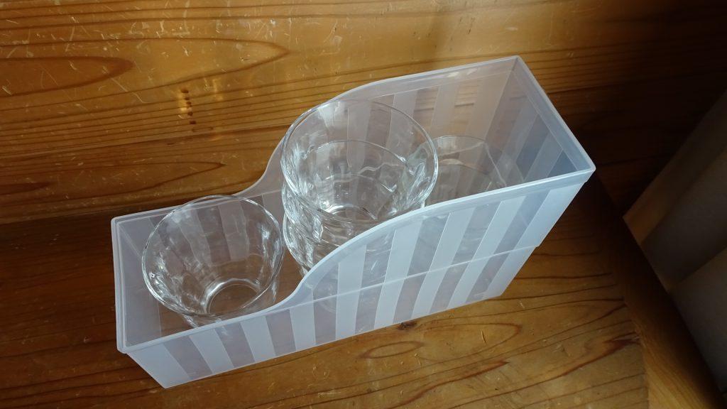 ファイルスタンドを食器の収納に使用(6)