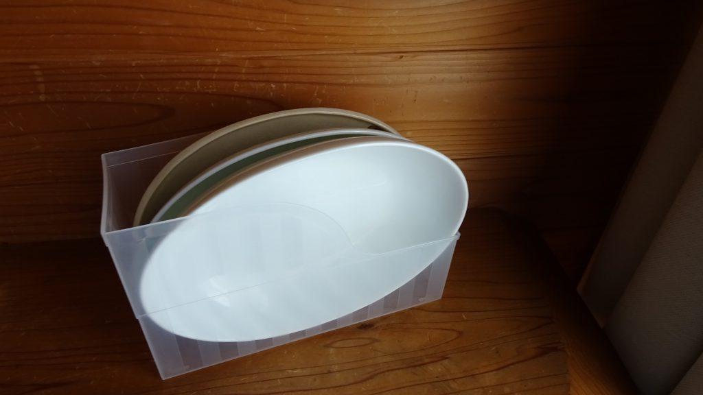 ファイルスタンドを食器の収納に使用(10)
